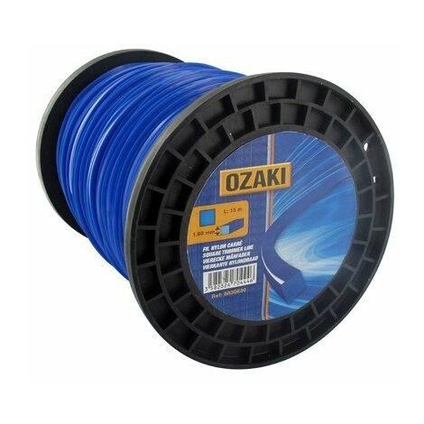 Bobine fil nylon carré OZAKI 200 m diamètre 3,30 mm