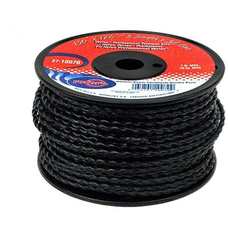 Bobine fil nylon hélicoïdal copolymère VORTEX - 3.30mm x 36m - Qualité professionnelle - Fabrication américaine