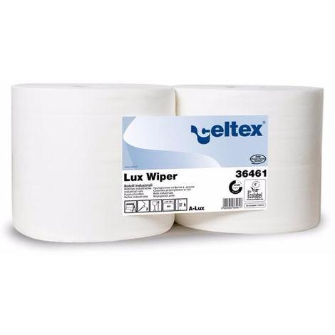 Bobine Lux Wiper blanc 900 feuilles de 30cm 2 plis - Lot de 2 - LUX00001