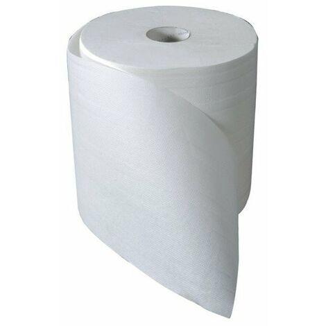 Bobine ouate 800 formats blanche 2 plis colles 23.1 x 23 cms