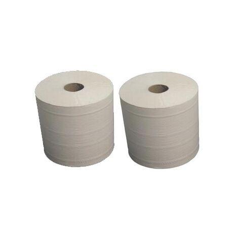 Bobine ouate d'essuyage Blanc Type 1000 lot de 2 Global Hygiene