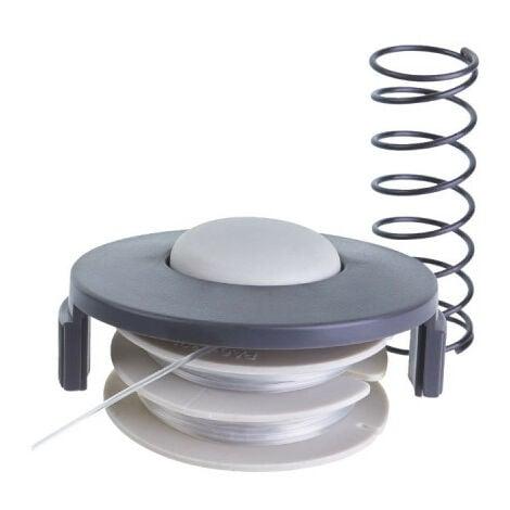 Bobine simple fil RYOBI diamètre 1.2mm et couvercle pour coupe-bordures électriques RAC140