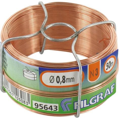 "main image of ""Bobinot cuivre rouge - Diamètre 0,8 mm"""
