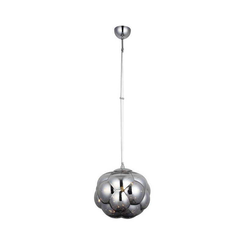 Bobo Haengelampe - Kronleuchter - Deckenkronleuchter - Chrom aus Metall, Glas, 25 x 25 x 105 cm, 1 x E27, 40W