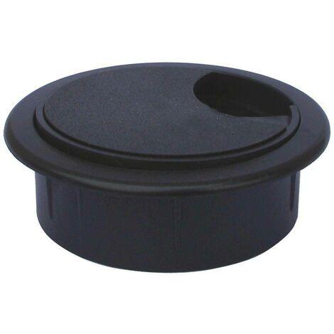 BOCCHETTA PASSACAVIES EN COULEUR PLASTIQUE DIAMETRE Noir DIAMETRE 60 MM 55604