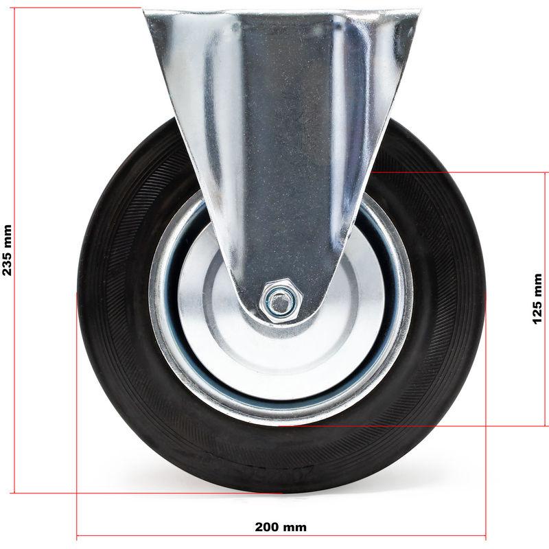 200 kg /Ø 200 mm Breite: 50 mm Gummirad