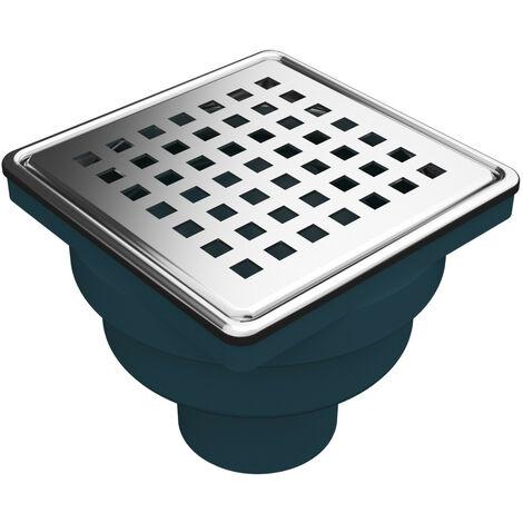 Bodenablauf Ablaufrinne Dusch Ablauf 10x10 cm Duschrinne Badablauf Siphon für Bad