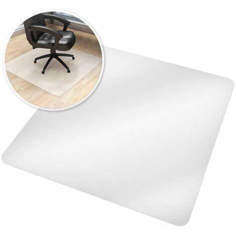 Bodenschutzmatte für Bürostühle - Bürostuhlunterlage, Bodenmatte, Schutzmatte - 90 x 90 cm - weiß