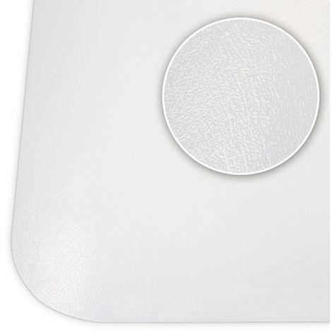 Bodenschutzmatte in verschiedenen Größen in Weiß schont Parkett, laminat uvm. Aus robustem Kunststoff