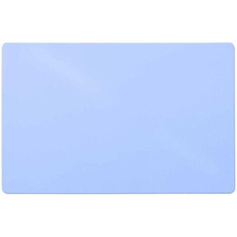 Bodenschutzmatte Teppichboden | hellblau | 75x120 cm