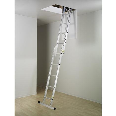 Bodentreppe 2-teilig; verschiebbar für eine maximale lichte Raumhöhe von 2.60m