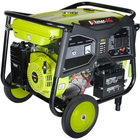 Böhmer-AG 5000KE - 7500w 13hp Petrol Generator - Electric Key Start Portable Power