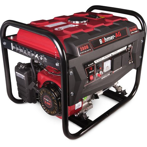 Böhmer-AG 6500W - 2800w 8hp Petrol Generator - Quiet Portable Camping Electric Power