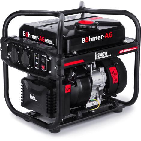 Böhmer-AG i-2500W - 2,0 KW Inverter Gruppo Elettrogeno/Generatore di Corrente Silenziato Eco-Mode - Spina UE