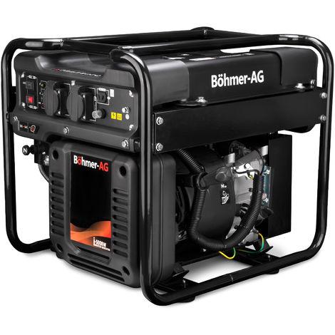 Böhmer-AG - i-5000W Générateur à Essence - 3 Kw avec onduleur - Discret - Prises EU