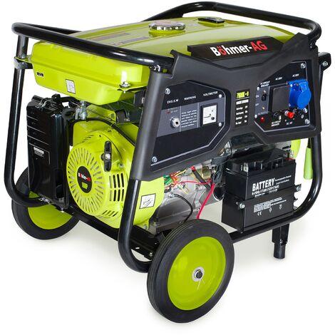 Böhmer-AG - WX7000KE Générateur à Essence - 9500 W - 16 hp - démarrage électrique avec clé - Prises EU