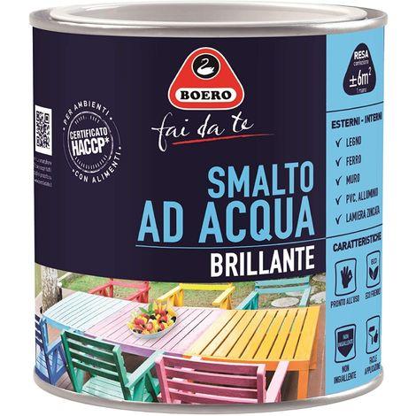 BOERO - SMALTO BRILLANTE ALL'ACQUA GIALLO CALDO 0,125LT