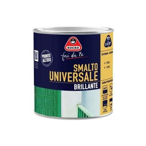 BOERO - SMALTO UNIVERSALE BRILLANTE BIANCO FLASH 0,500LT