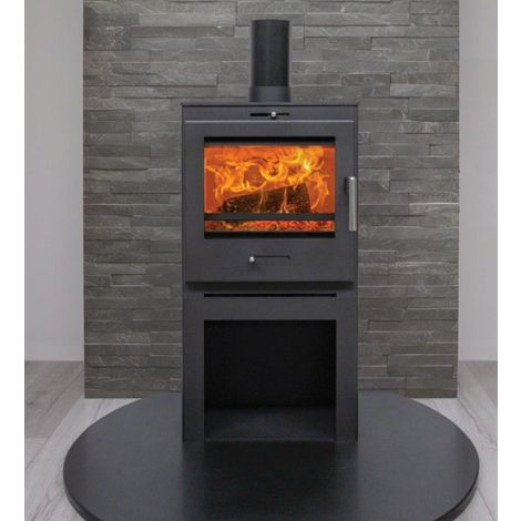 Bohemia X40 Cube Multifuel Defra Stove With High Log Store