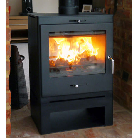 Bohemia X40 Cube Multifuel Defra Stove With Low Log Store