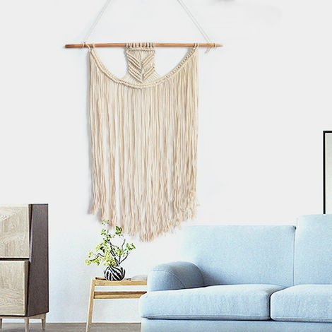 Bohemian Gland Macrame Woven Wall Art Hanging Tapestry Ornament Home Decor