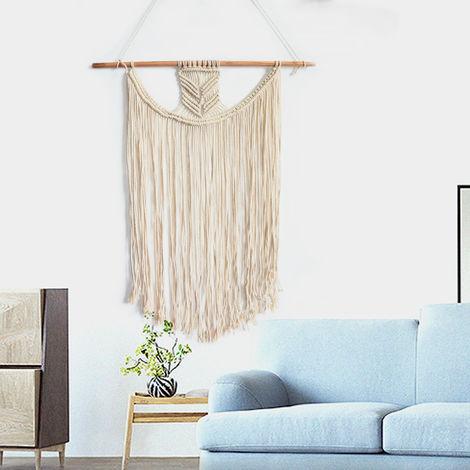 Bohemian Gland Macrame Woven Wall Art Hanging Tapestry Ornament Home Decor Hasaki