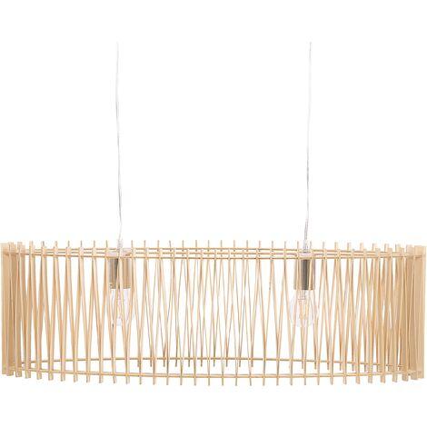 "main image of ""Boho Pendant Lamp MDF Two Lights Dining Room Light Wood Chari"""