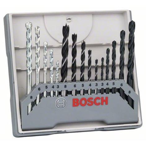 Bohrer-Set, gemischt, 15-teilig, 3 - 8 mm, 3 - 8 mm, 3 - 8 mm