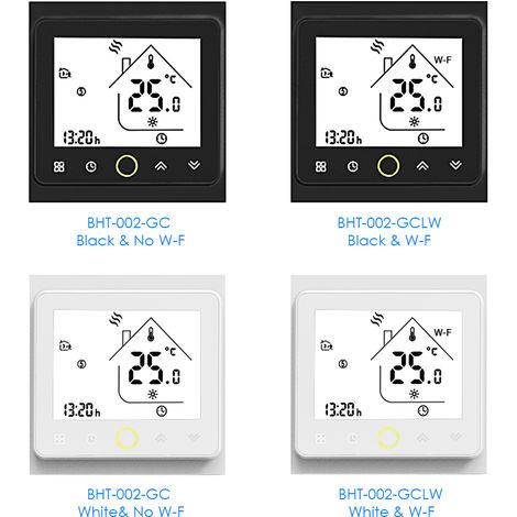 Boiler intelligente Thermostatheizung Temperaturregler schwarz (ohne WiFi)