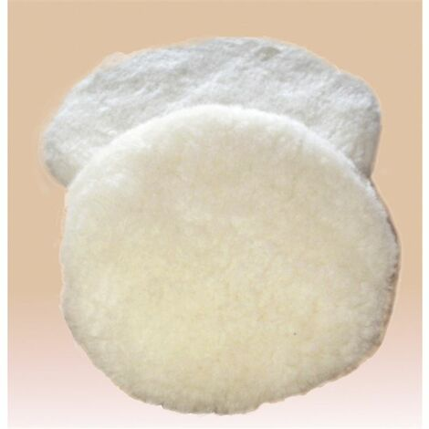 Boina-bonete para pulir. pura lana 100%. diámetro 150 mm blanco Asein