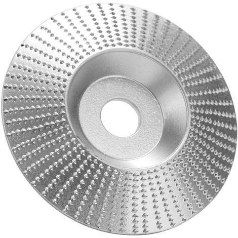 Bois Angle Meule Pon?age Sculpture Outil Rotatif Abrasif Disque Pour Meuleuses Haute Teneur En Carbone En Acier Mise En Forme 5/8 Pouces Alesage, Argent, 100Mm