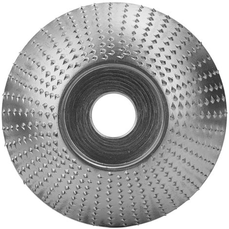 Bois Angle Meule Pon?age Sculpture Outil Rotatif Abrasif Disque Pour Meuleuses Haute Teneur En Carbone En Acier Mise En Forme 5/8 Pouces Alesage, Argent, 85Mm
