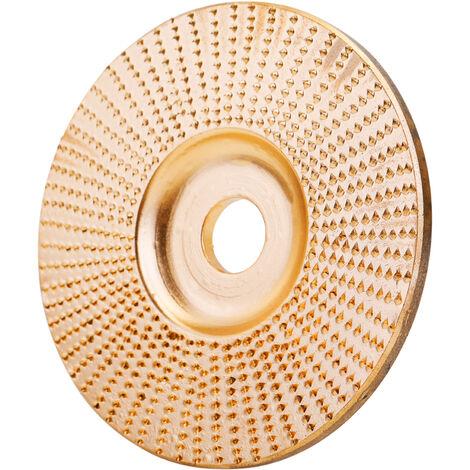 Bois Angle Meule Pon?age Sculpture Outil Rotatif Abrasif Disque Pour Meuleuses Haute Teneur En Carbone En Acier Mise En Forme 5/8 Pouces Alesage, Or, 100Mm