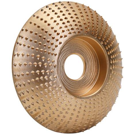 Bois Angle Meule Pon?age Sculpture Outil Rotatif Abrasif Disque Pour Meuleuses Haute Teneur En Carbone En Acier Mise En Forme 5/8 Pouces Alesage, Or, 85Mm