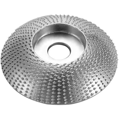 Bois Angle Meule Poncage Sculpture Outil Rotatif Abrasif Disque Pour Meuleuses En Carbure De Tungstene Revetement Bore Faconner 5/8 Pouces Alesage, 3,3 Pouces De Diametre