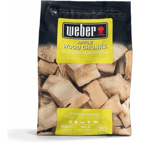 Bois de fumage Weber - Gros morceaux (2 saveurs au choix) - Marron
