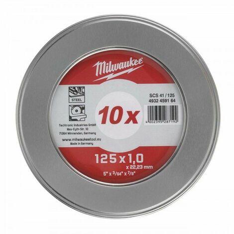 Boite 10 Disques à tronçonner Ø 125 mm x 1mm – Milwaukee