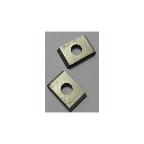 Boite 10 plaquettes carbure K10 - 7,65 x 12 x 1,5 mm travail du bois