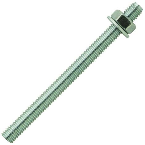 Boîte 10 Tiges filetées acier zingué + Écrou + Rondelle 10x130 mm SCELL-IT - MS10130