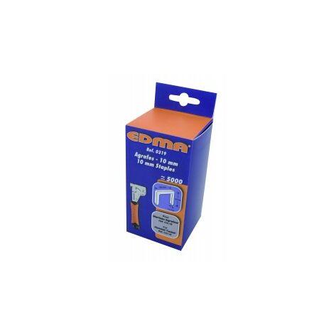 Boite 5000 agrafes 10 mm pour marteau Puncher Edma 031955 Edma
