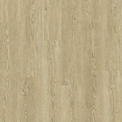 Boite 7 lames PVC clipsables - 1211x190,5mm - 1,61 m² - Starfloor Click 55 BRUSHED PINE NATURAL - TARKETT
