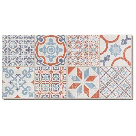 Boite 9 dalles PVC clipsables - 310x601mm - 1,67 m² - Starfloor Click 30 RETRO ORANGE BLUE - TARKETT