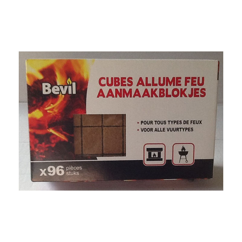 Boite 96 Cubes Allume Feu Ecolo 1007080