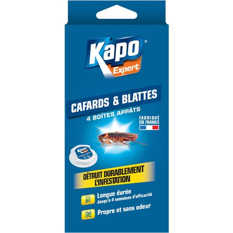 Boite à appât cafards et blattes x4 KAPO