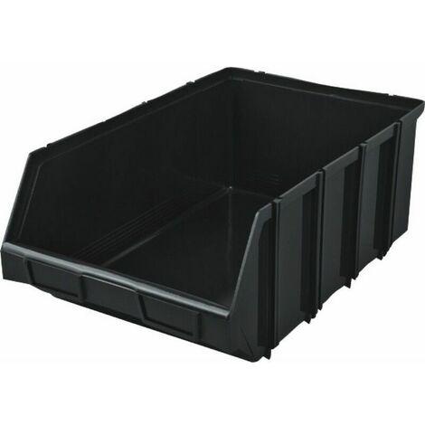 RS Pro 10 Cell Noir PP Compartiment Boîte 40 mm x 245 mm x 180 mm