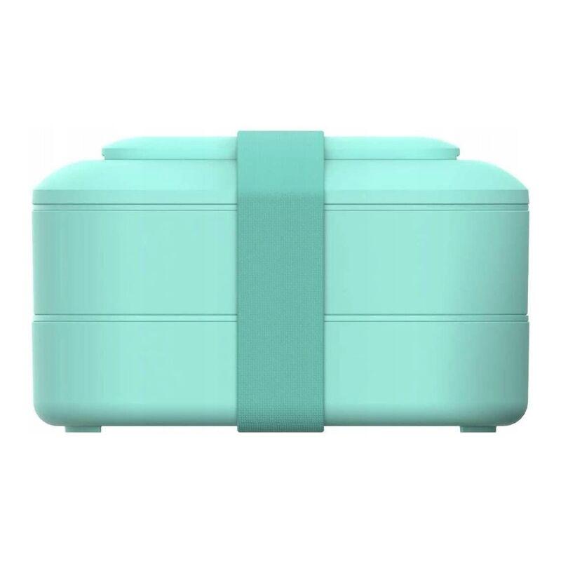 Ilovemono - Boîte à bento Boîte de rangement pour aliments Accessoires de cuisine Boîte à lunch à double compartiment vert