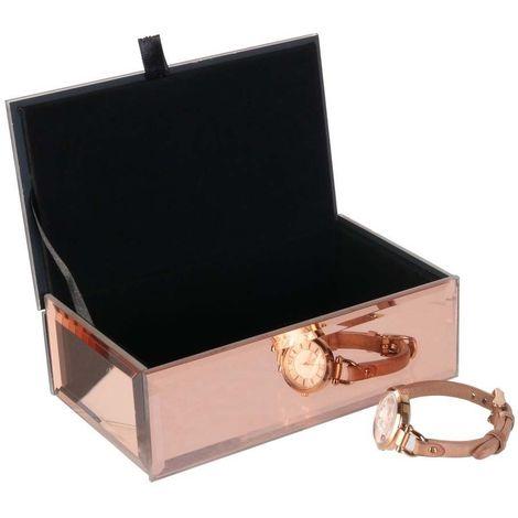 Boîte à bijoux cuivré effet miroir - Cuivré