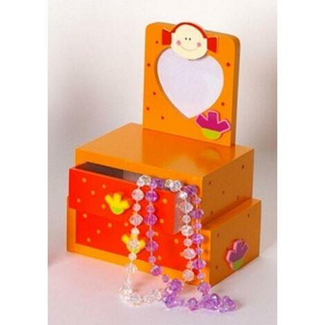 Boîte à bijoux en bois + cadre photo Princesse Orange