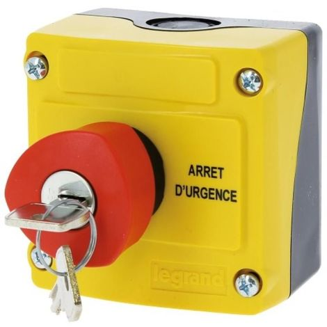 Boîte à bouton équipée 1 trou coup de poing à clé Nà 455 Ø 40