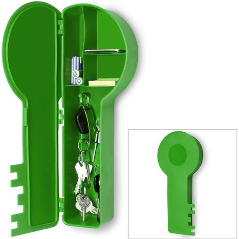 Boîte à clé blanche - Rangement clés en forme de clé - Boitier Armoire murale